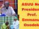 ASUU Elects a New President: Prof. Emmanuel Osodeke.
